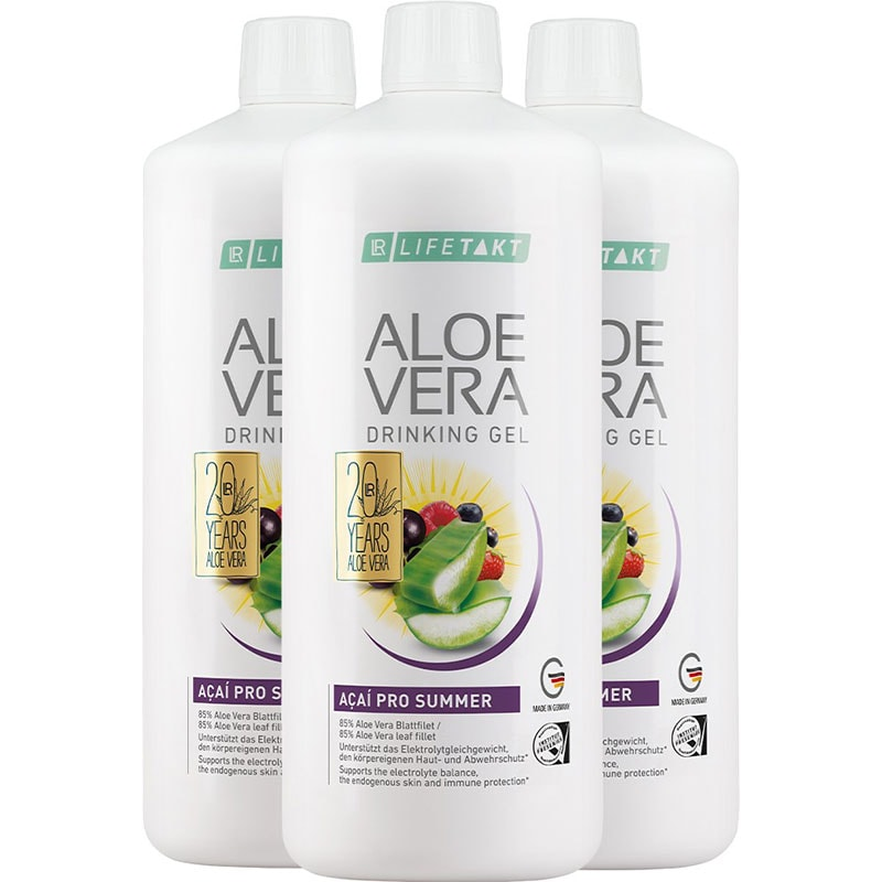LR Aloe Vera Drinking Gel Acai Pro Summer 3er Set (81103-1)