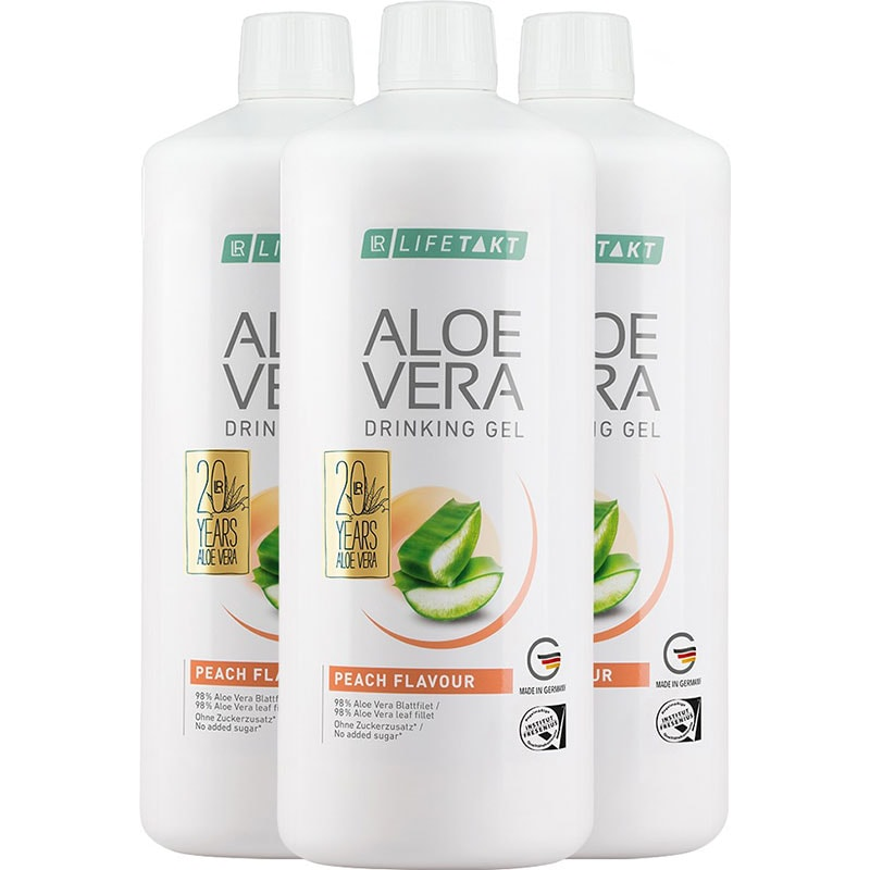 LR Aloe Vera Drinking Gel Pfirsich 3er Set (80783-480)